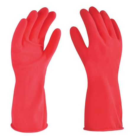 guante de latex rojo