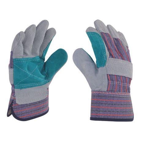 guantes de carnaza reforzados