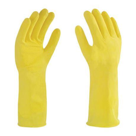 guante de latex amarillo