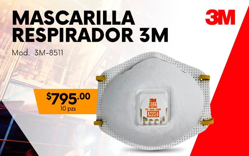mascarilla respirador 8511